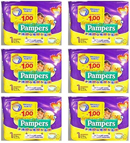 Pampers Progressi Newborn 168 Pannolini Taglia 1 2-5 kg