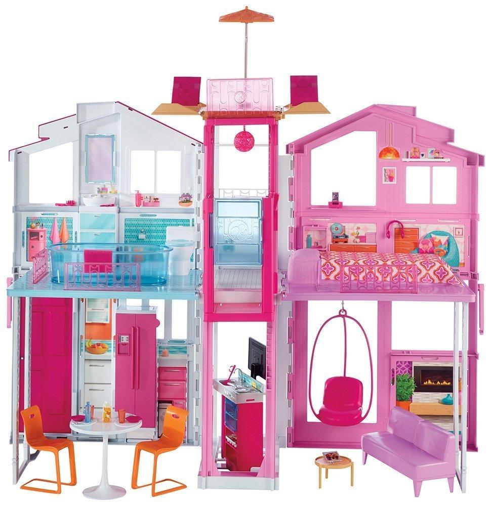 Letto A Castello Barbie.Barbie La Casa Di Malibu Con Accessori Universo Bimbi